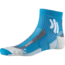 X-Socks Marathon Energy Calcetines Running Hombre, teal blue /arctic white